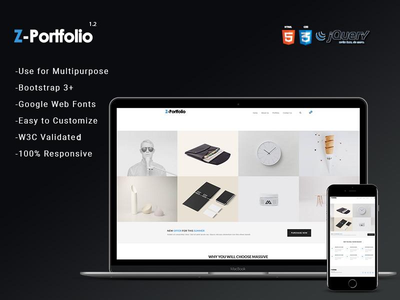 Z Portfolio | HTML5 Portfolio Theme theme