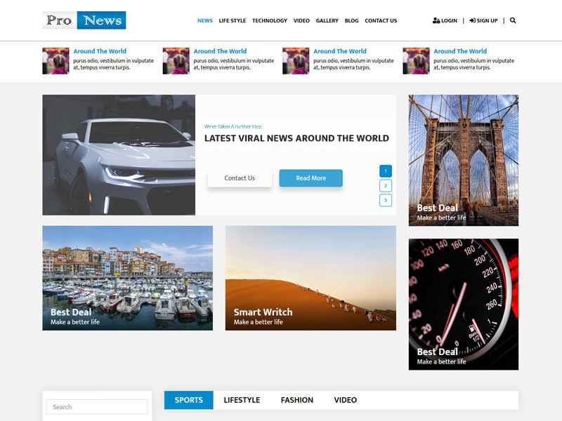 Pro News – HTML5 Magazine Template theme