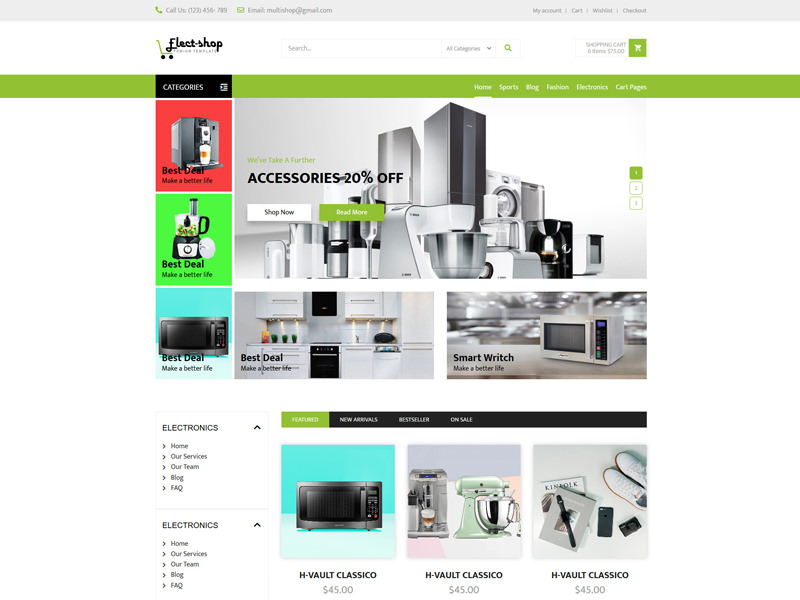 Electronics Shop – eCommerce Responsive Template theme