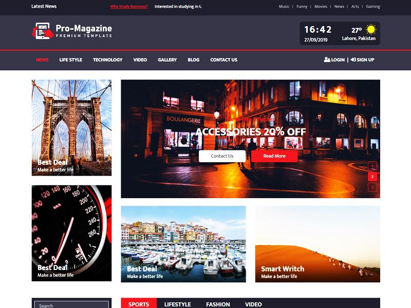 Pro Magazine – Versatile Magazine HTML5 Theme theme
