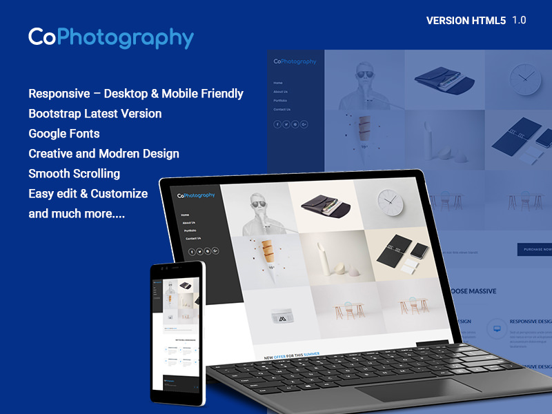 CoPhotography – Startup Agency HTML Template theme