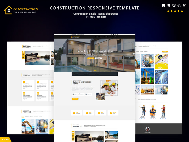 Construction and Renovation – HTML5 Business Template theme