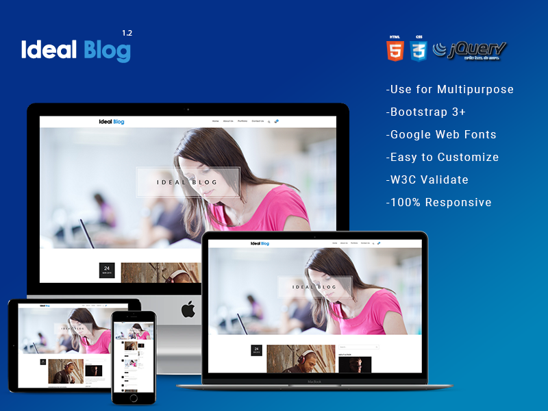 Ideal Blog – HTML5 Blog Template theme