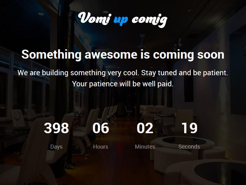 Vomi | Coming-Soon HTML5 Theme theme