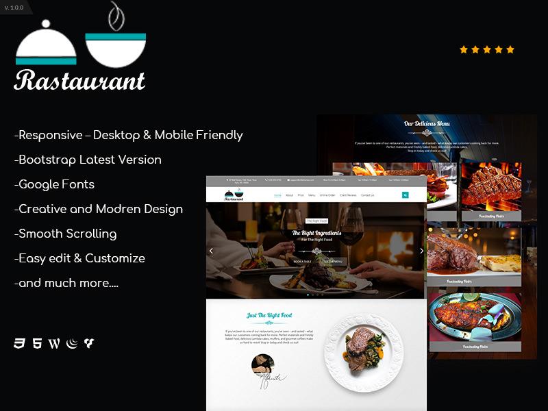 Mapto Restaurant | Single Page HTML5 Responsive Template theme