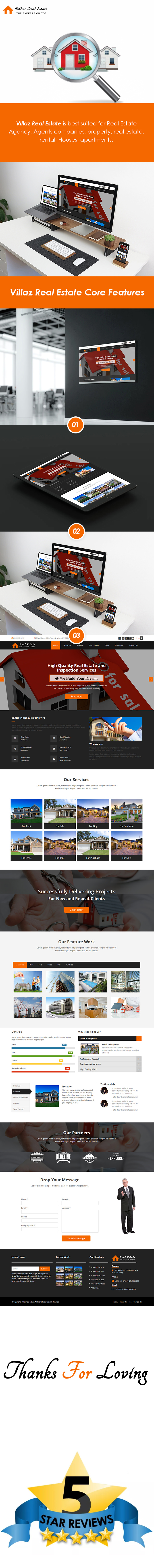 Villaz Real Estate – Single Page HTML5 Template theme