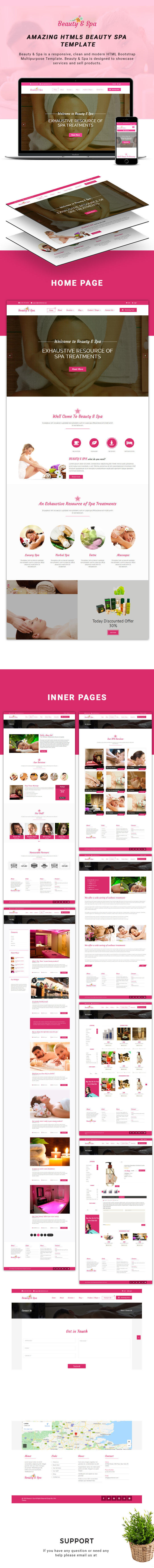 Beauty & Spa – HTML5 Template theme