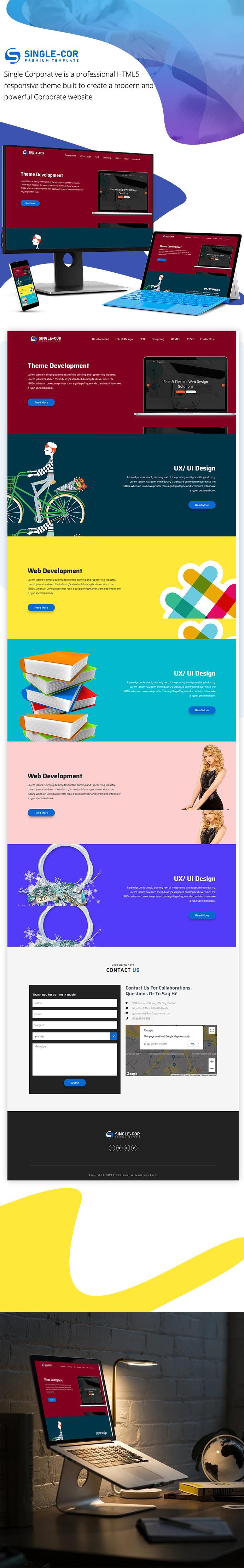 Single Cor – Business & Corporate Multipurpose HTML5 Template theme
