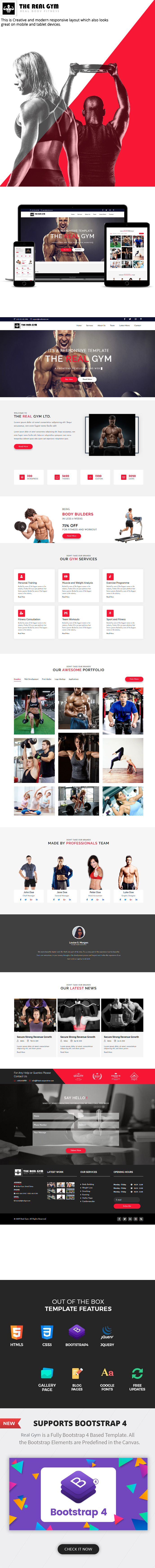 Real Gym – Fitness and Gym Template theme
