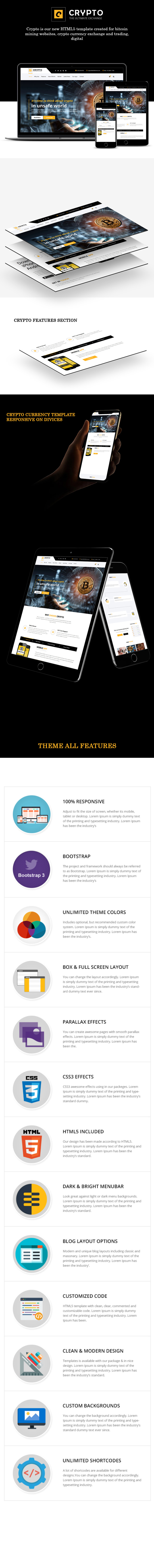 Crypto Currency – Bitcoin Responsive Theme theme