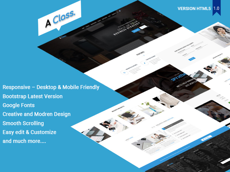 A Class – Agency Template theme