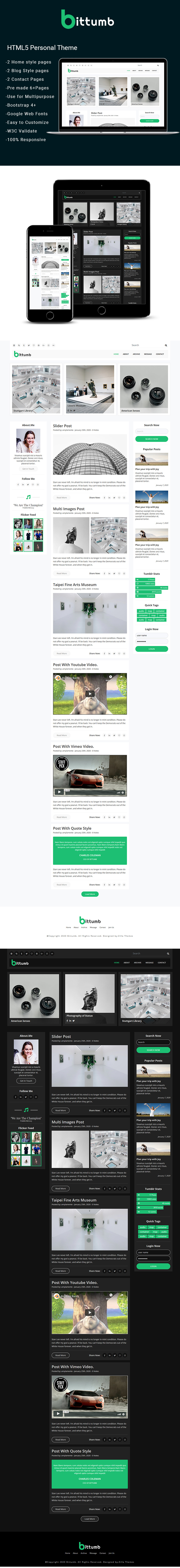Bittumb – Free WordPress Magazine Theme Wordpress theme